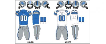 Detroit Lions - Uniformes