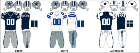 Dallas Cowboys - Uniformes