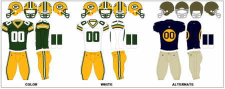 Green Bay Packers - Uniformes