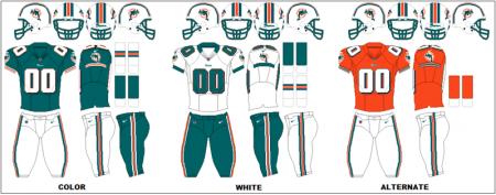 Miami Dolphins - Uniformes