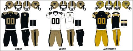 New Orleans Saints - Uniformes