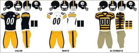 Pittsburgh Steelers - Uniformes