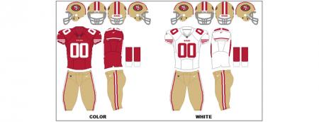 San Francisco 49ers - Uniformes
