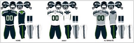 Seattle Seahawks - Uniformes