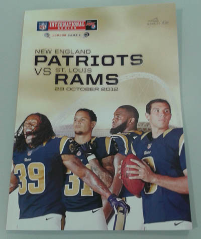 Patriots @ Rams London Programa