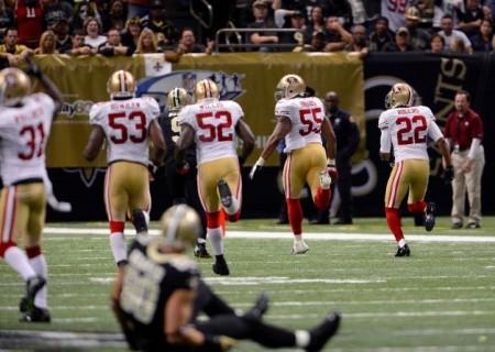 Defesa dos 49ers arrasa New Orleans