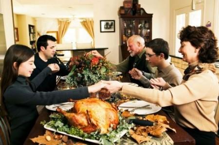 Uma cena, ainda típica, de como é celebrado o Thanksgiving