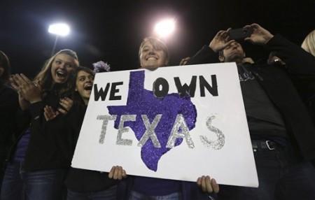 O entusiasmo dos fãs de Kansas State era enorme, no início do jogo