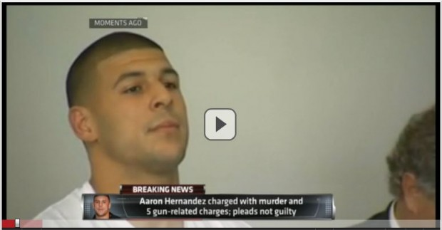 Aaron Hernandez no Tribunal