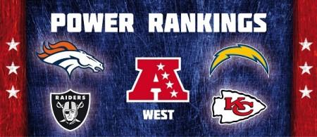 AFC West - Power Rankings