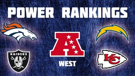 AFC West - Power Rankings