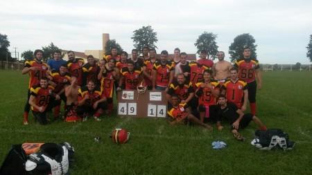 Equipa de Maringá no final do jogo
