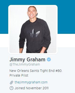 A conta de Twitter do Jimmy Graham
