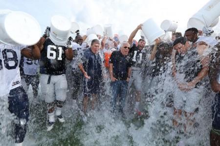 New Engalnd Patriots ALS Ice Bucket Challenge