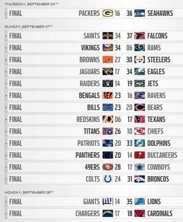 NFL - Week 1