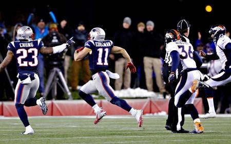 touchdown, num punt return frente aos Denver Broncos.