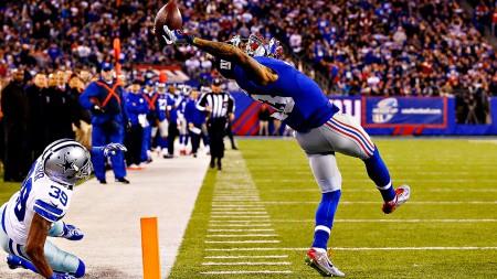 Beckham Jr. apanha uma bola simplesmente impossível