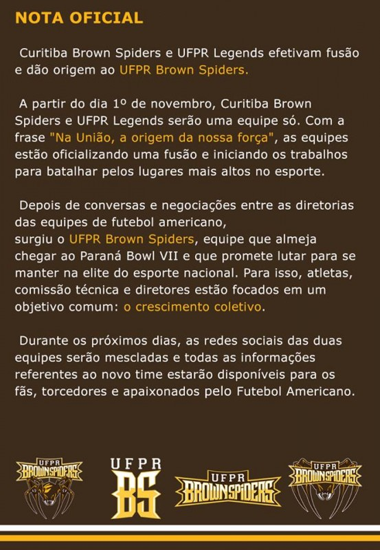 Nota Impressa UFPR Brown Spiders