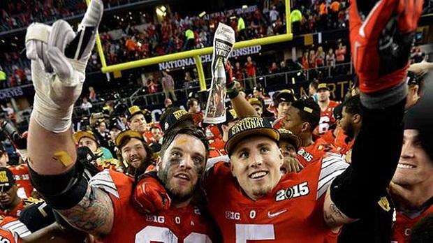 Ohio State celebrando a vitória