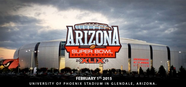 University of  Phoenix Stadium home of the Super Bowl XLIX