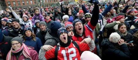 Super Bowl New England Patriots Fans