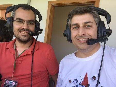 Pedro Viana e André Novais de Paula fizeram a locução da final da LPFA