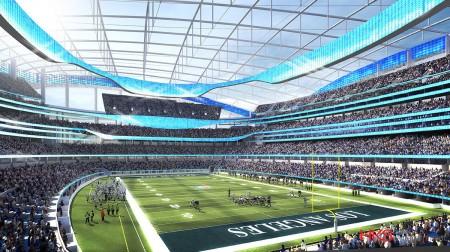 Projecto do Estádio dos St.Louis Rams em Inglewood