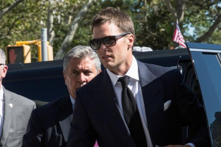 Tom Brady à chegada do Tribunal