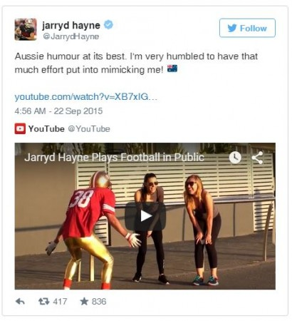 Jarryd Hayne Twitter