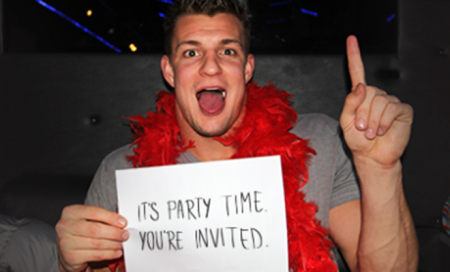 Rob Gronkowski em party mode