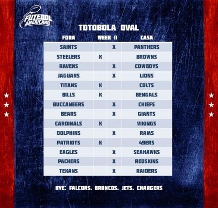 Totobola Oval - NFL 2016 Week 11