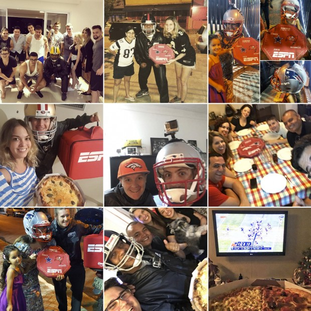 ESPN surpreende fãs de NFL com delivery de pizza