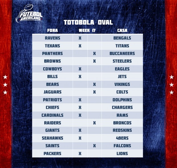 Totobola Oval - NFL 2016 Week 17