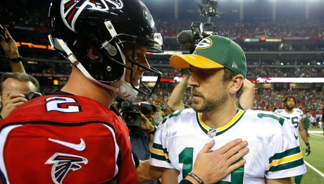 Rodgers e Ryan defrontam-se em Atlanta. Foto: Kevin C. Cox | Getty Images