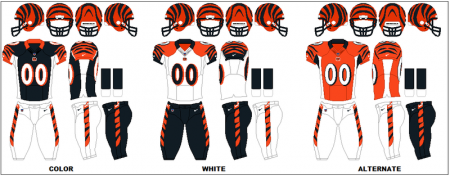 Cincinnati Bengals - Uniformes