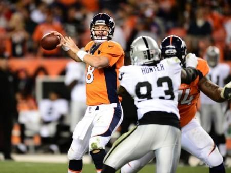 Peyton Manning, Quarterback dos Denver Broncos está em grande forma