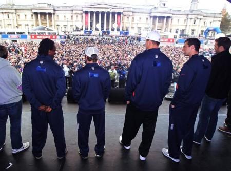 Trafalgar Square Patriots Pep Rally