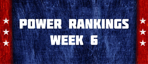 Power Rankings Week 6