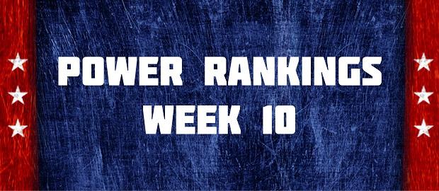 Power Rankings Week 10